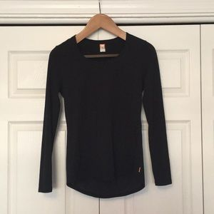 Lucy Long-Sleeved Workout Top in Black